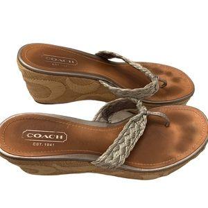 Coach Averie leather espadrille sandals 8.5 shoes